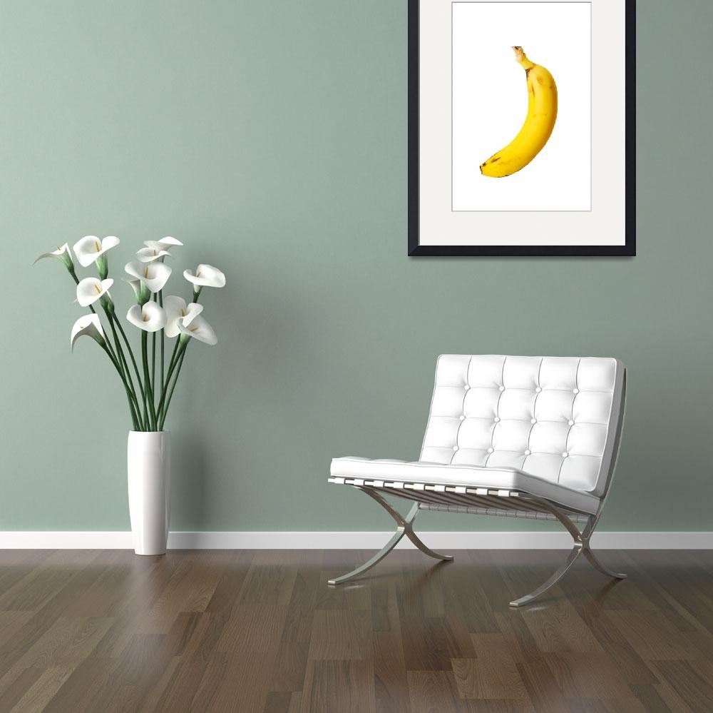 """""""Ripe banana isolated on white background&quot  by Piotr_Marcinski"""