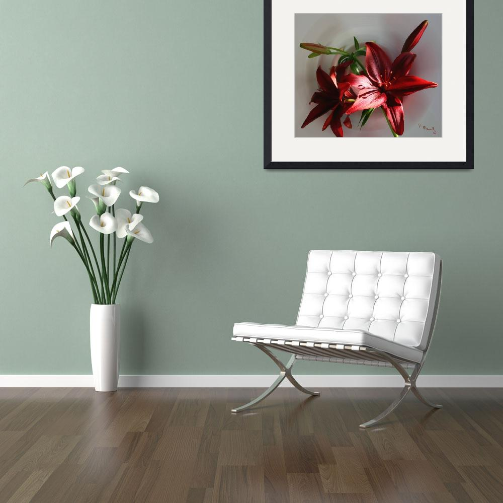 """""""Lilies in a Crystal Vase""""  (2012) by jacquelinemauritzartist"""