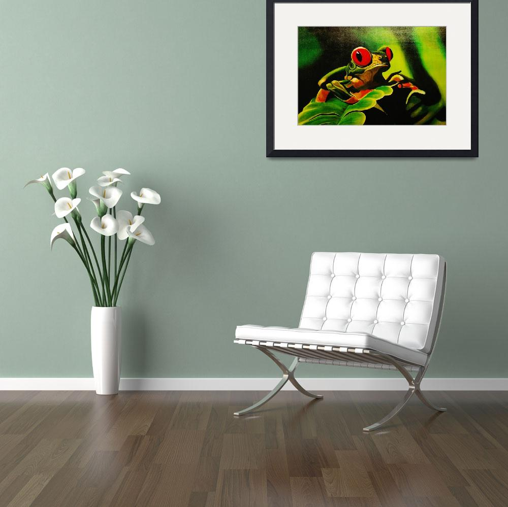 """""""Red Eyed Tree Frog&quot  (2009) by bings"""