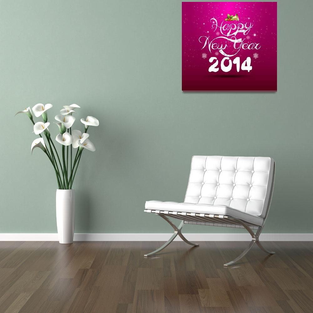 """""""happy new year lettering greeting card""""  (2013) by ngocdai86"""