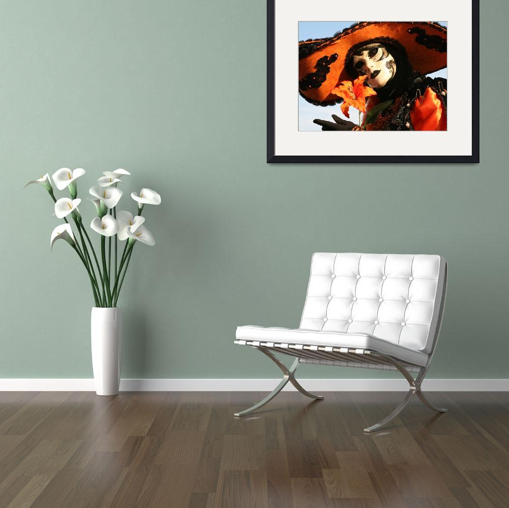 """Lady in Orange With Flower H""  (2009) by DonnaCorless"