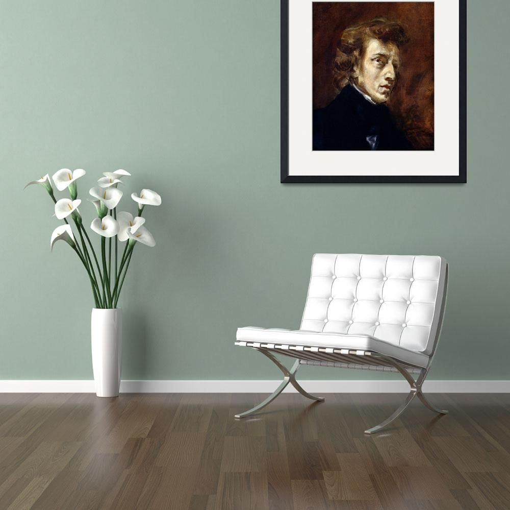 """""""Frederic Chopin by Ferdinand Delacroix&quot  by fineartmasters"""
