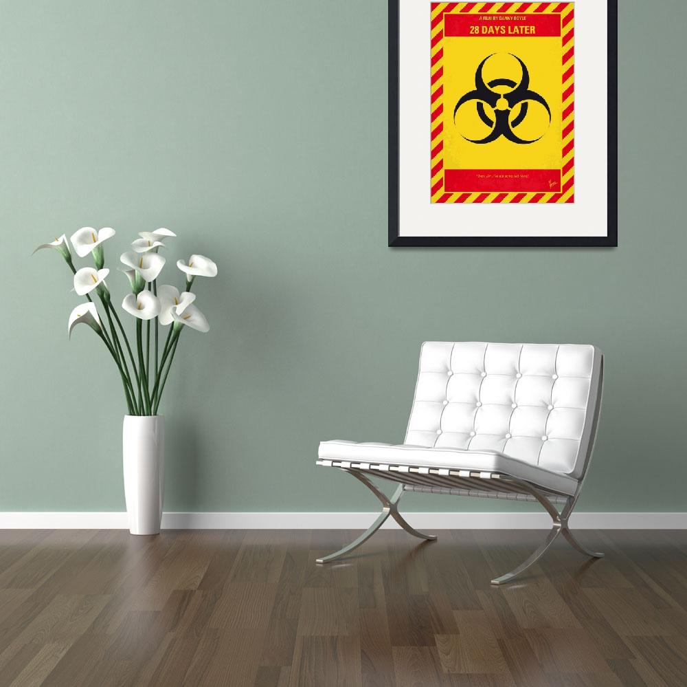 """""""No1029 My 28 Days Later minimal movie poster&quot  by Chungkong"""