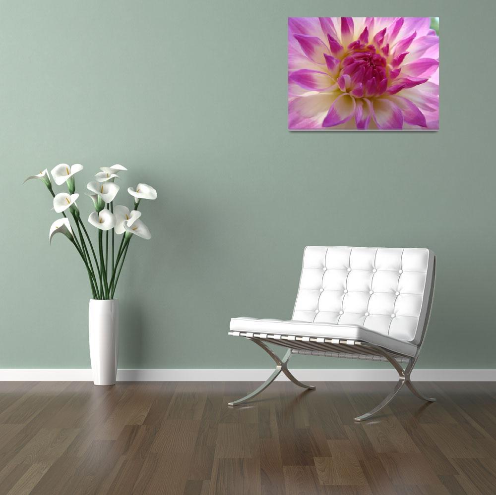 """DAHLIAS Flowers Art Print Canvas Dahlia""  (2009) by BasleeTroutman"