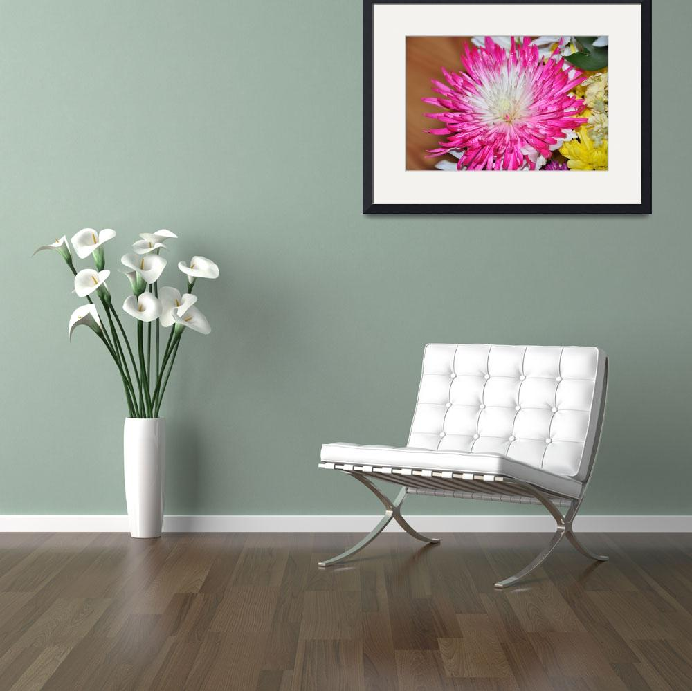 """""""White and Pink Flower&quot  (2012) by eviirons"""