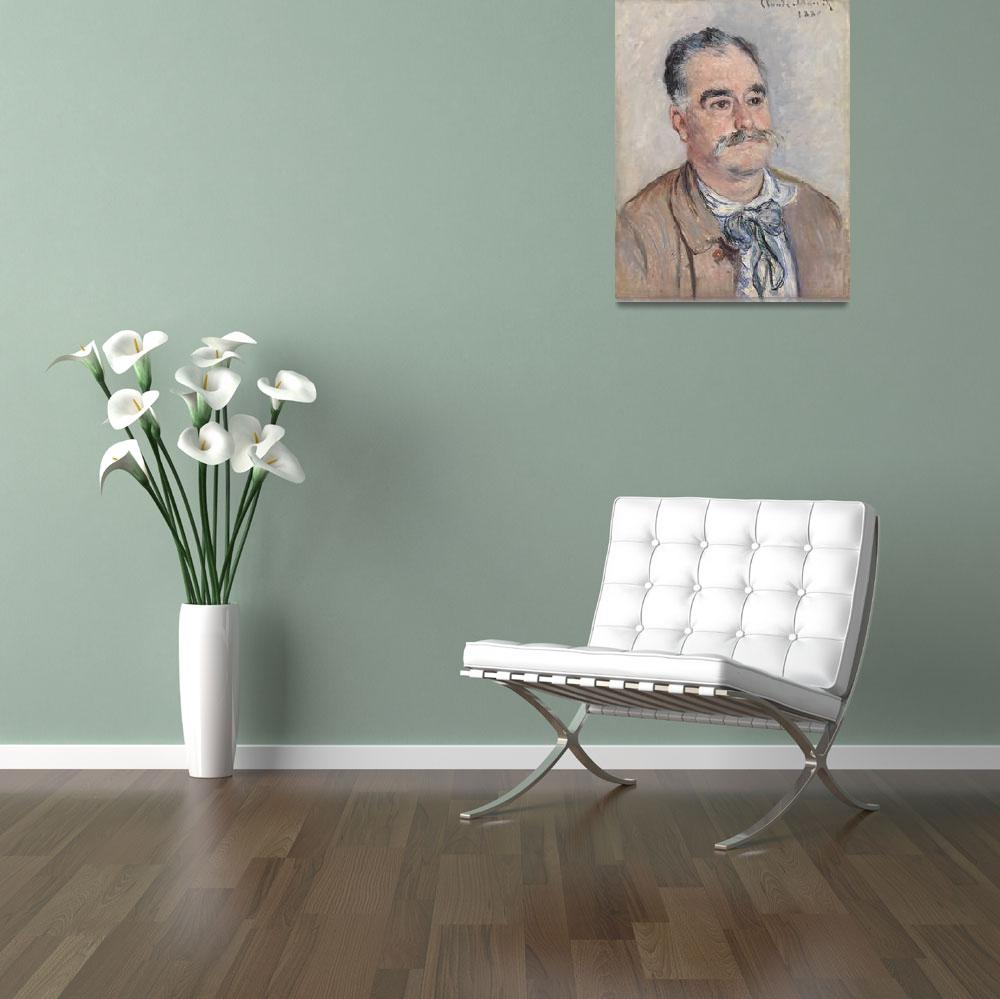 """Portrait of Monsieur Coquette, Father by Monet&quot  by FineArtClassics"