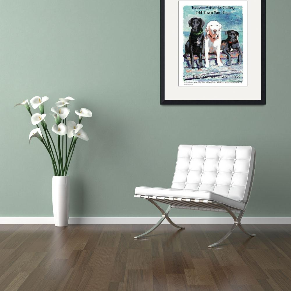 """""""Three Dogs Gallery poster""""  (2013) by RDRiccoboni"""