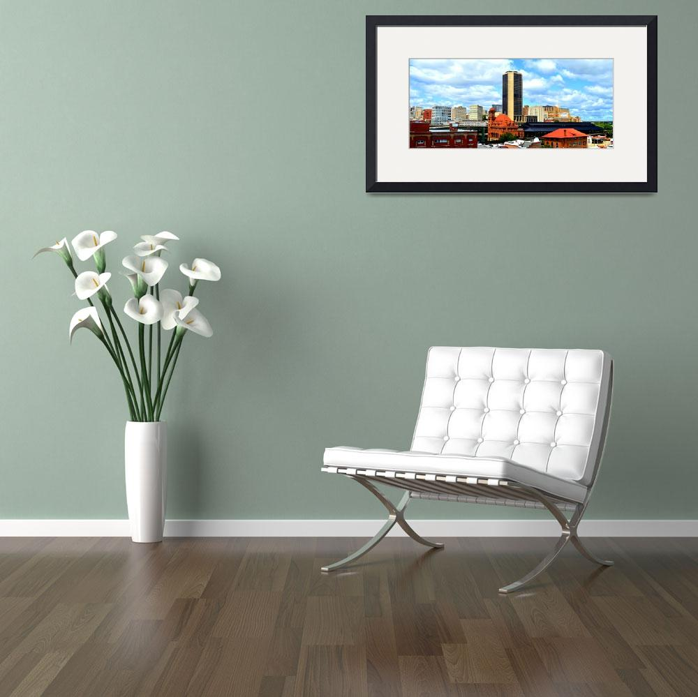 """Richmond, Virginia Skyline, James Monroe Building&quot  by Artsart"