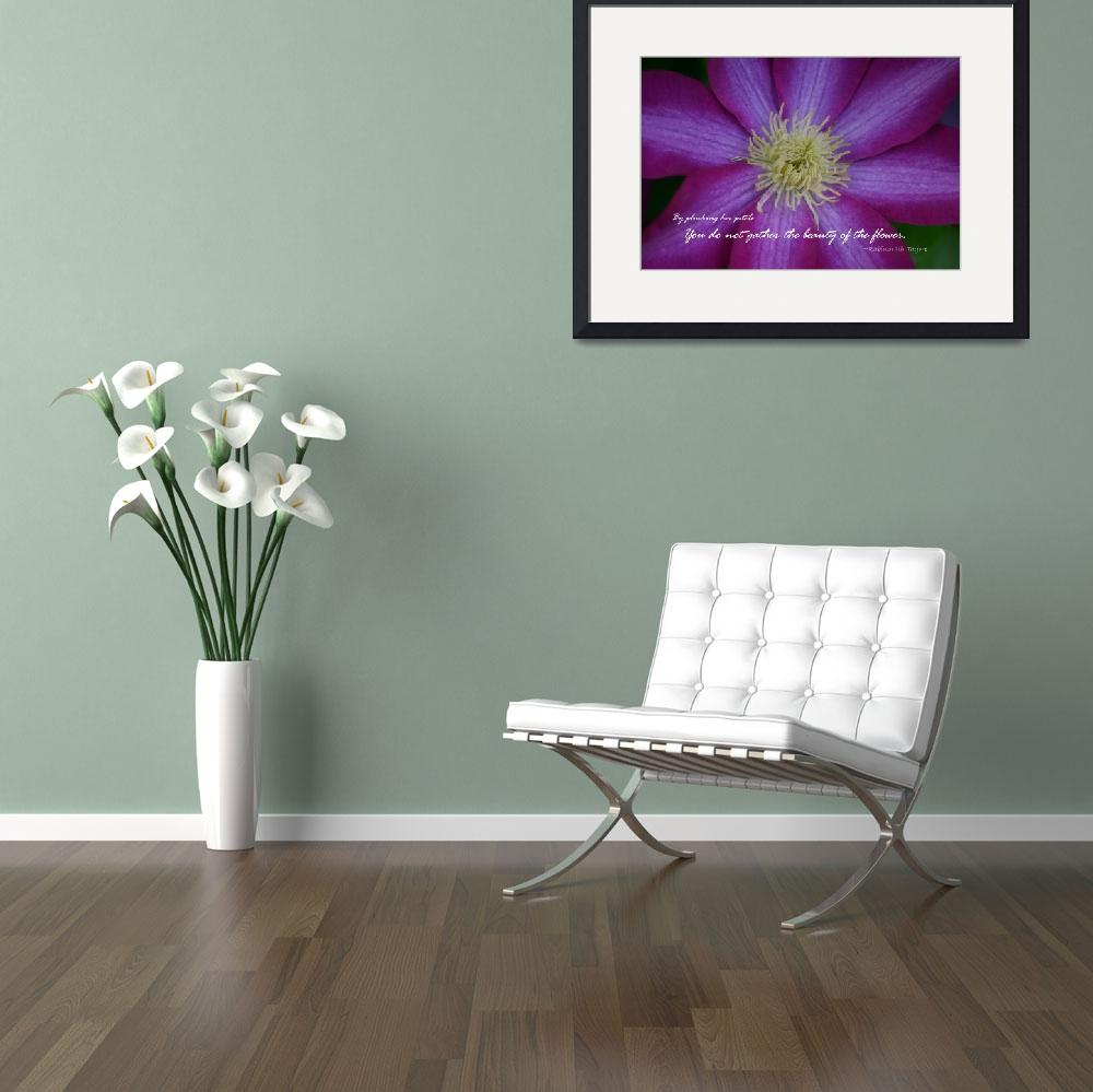 """Purple Clematis Flower with quote""  (2010) by imaginativeimagery"