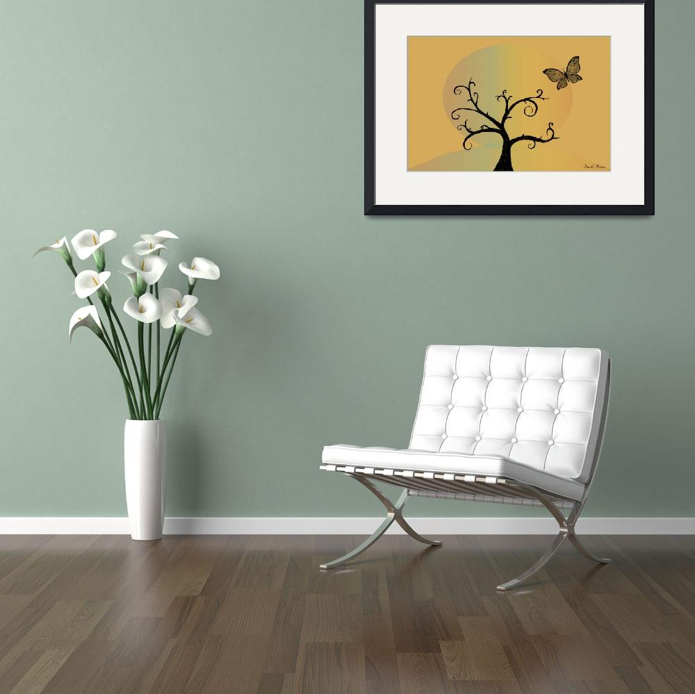 """Last Tree Standing - Yellow&quot  (2008) by ProvencalDesigns"