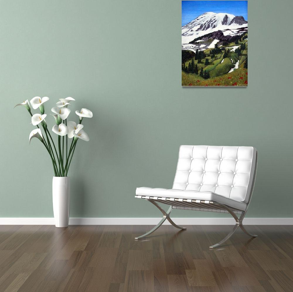 """Mount Rainier""  (2006) by FredericKohli"
