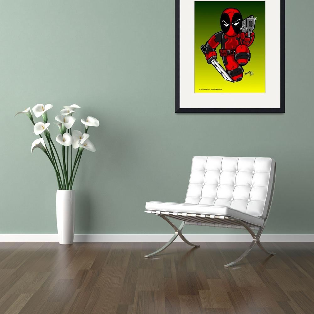 """""""Deadpool - The Merc with a Mouth&quot  (2011) by EdMedArt"""
