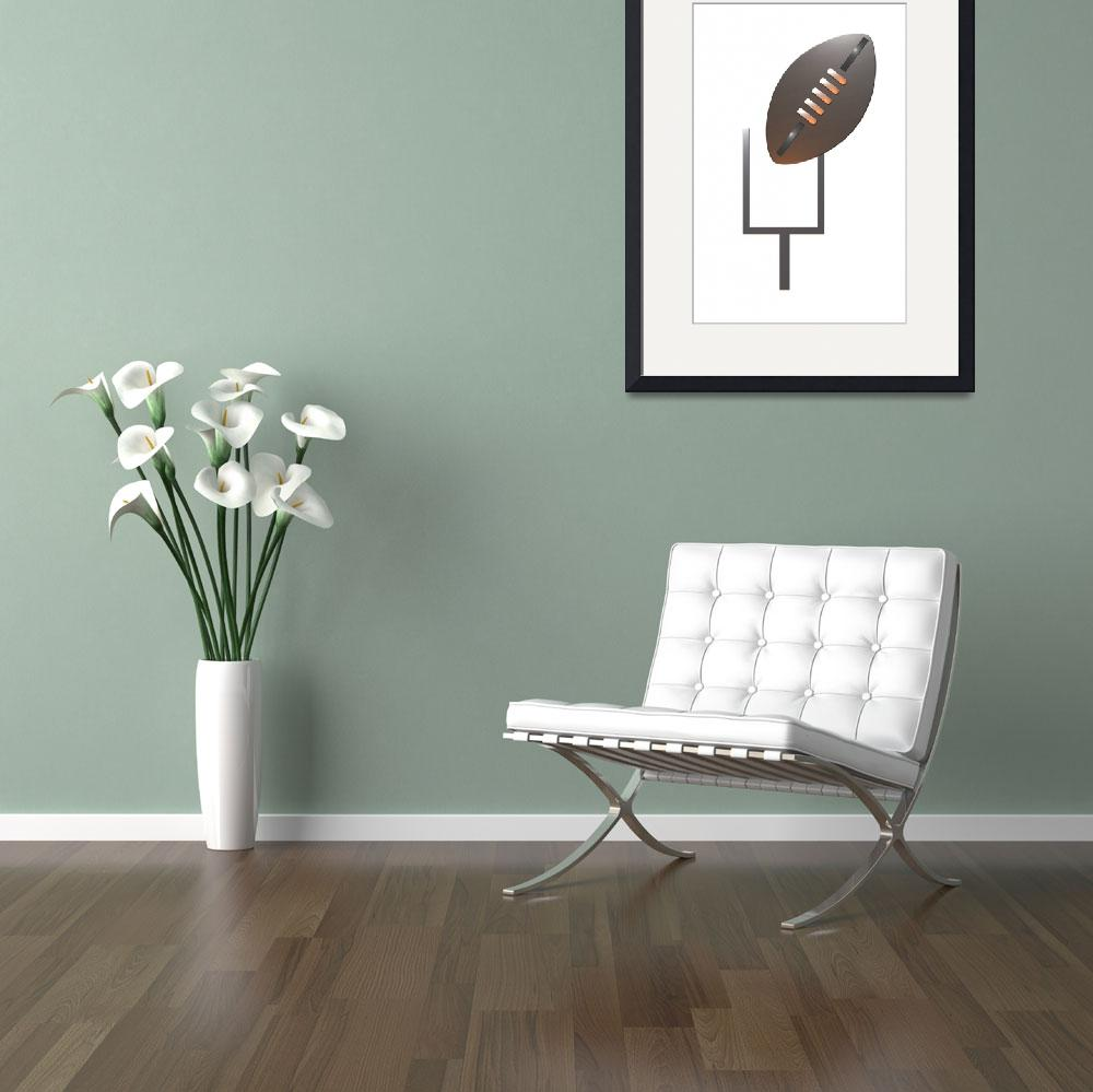 """""""american rugby football and goal post""""  (2013) by patrimonio"""