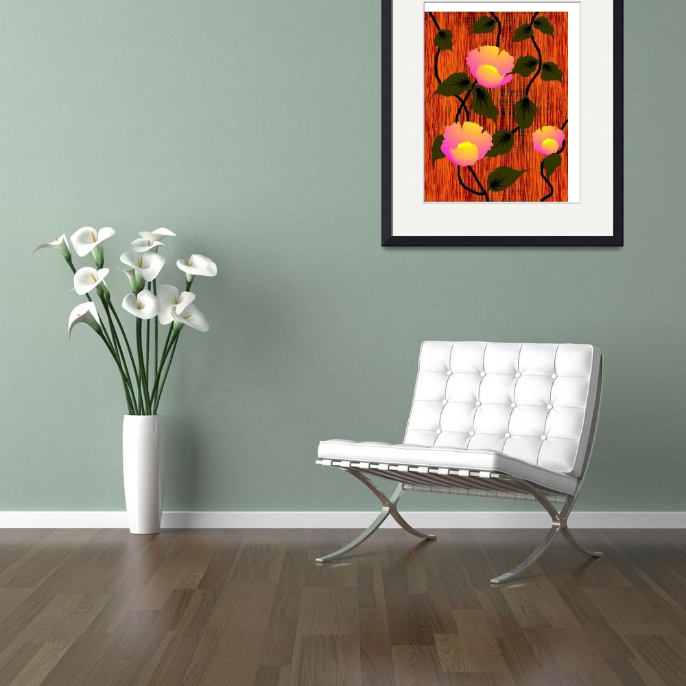 """Digital painting of flowers and leaves""  (2009) by digitalpainting"