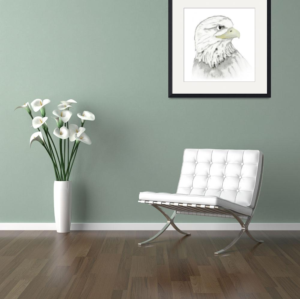 """""""Eagle Drawing""""  by DaveR"""