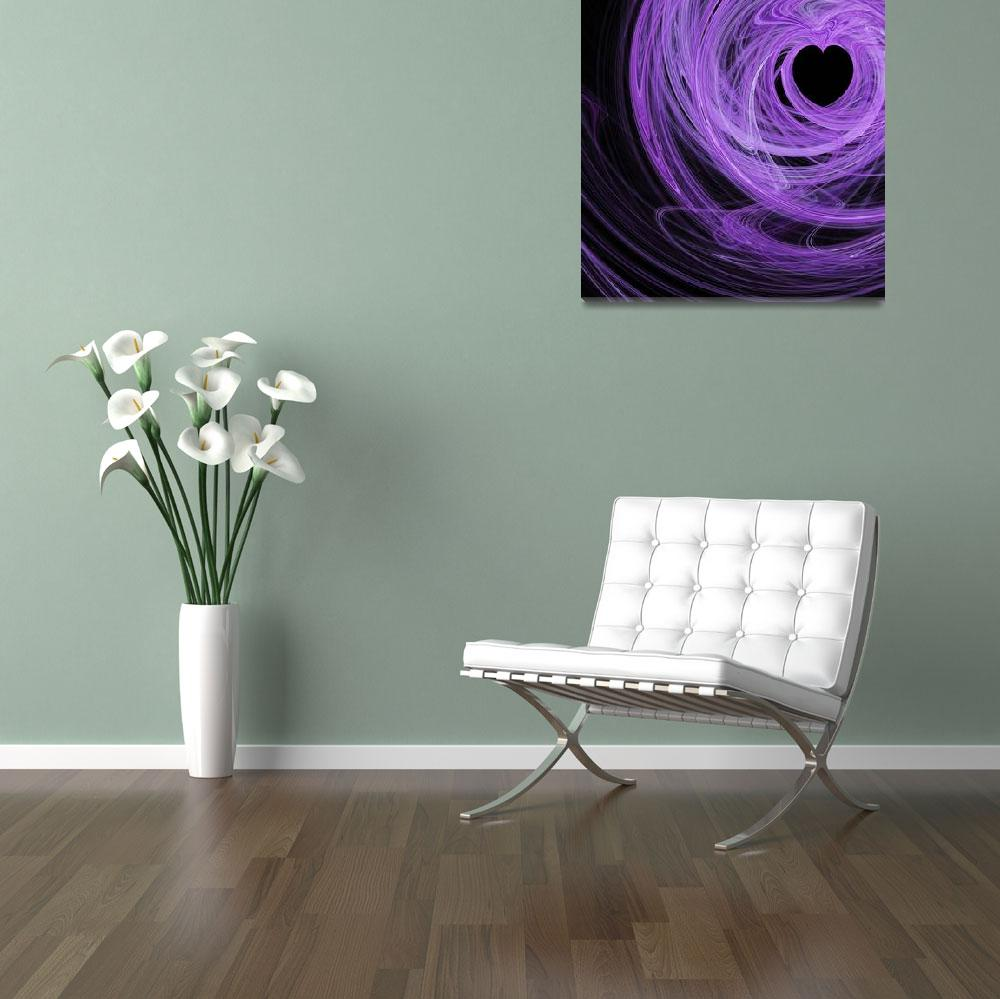 """""""Love Swirls . Square . A120423.689&quot  by wingsdomain"""