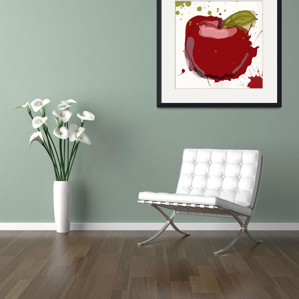 """""""red apple&quot  by Aneri"""
