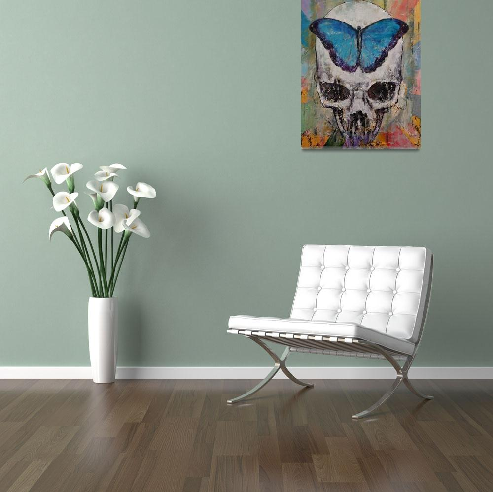 """""""Butterfly Skull&quot  by creese"""