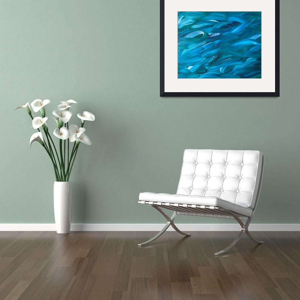 """""""Water leaves 16x20 (2)""""  by TheresasVisualart"""
