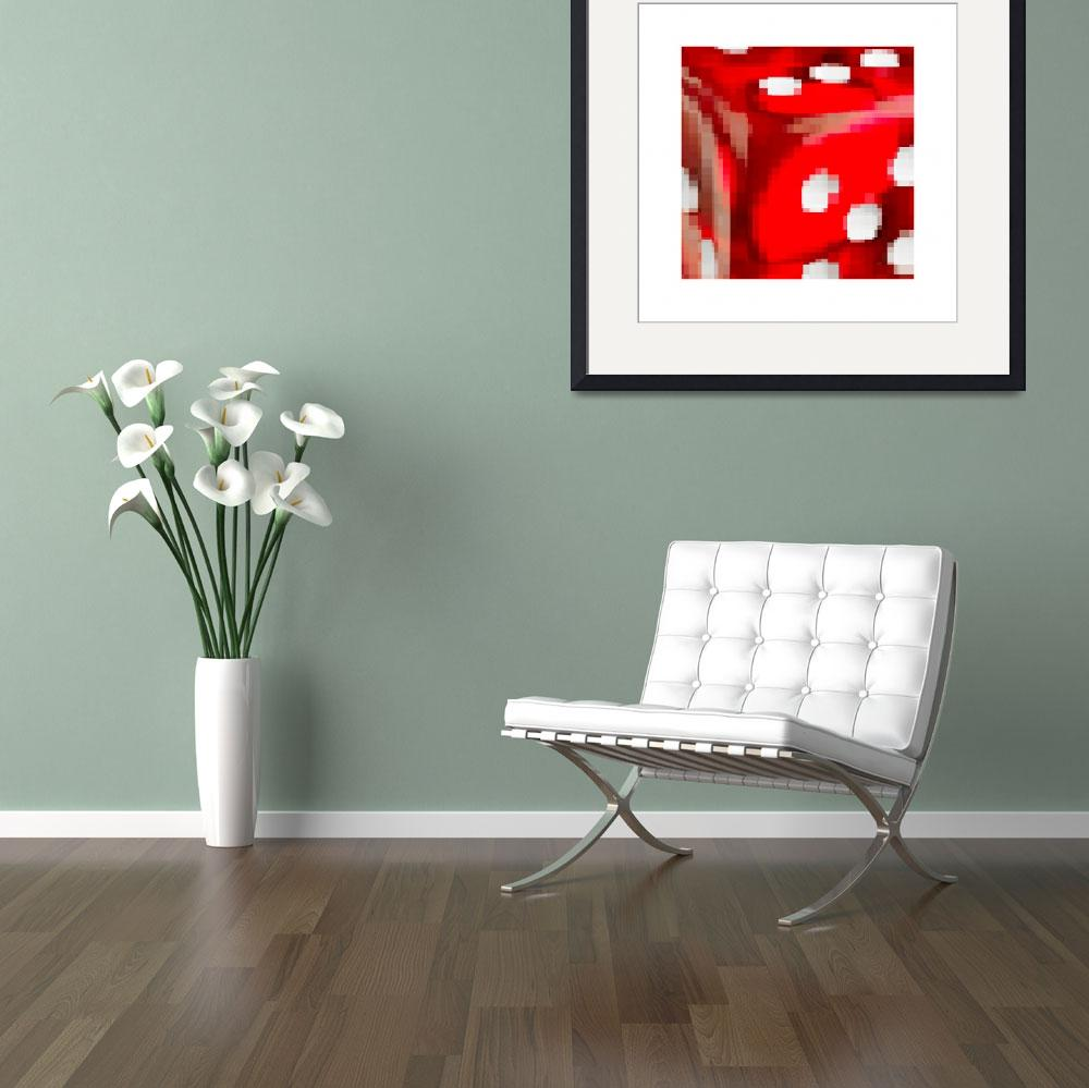 """""""Red dice pixelated&quot  by Morganhowarth"""