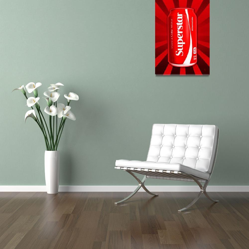 """Coca Cola - Coke - Superstar - Pop Art""  (2015) by wcsmack"