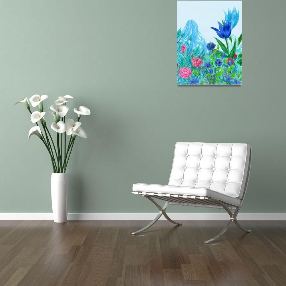 """""""Blue Flower Faerie""""  (2010) by RebeccaTripp"""