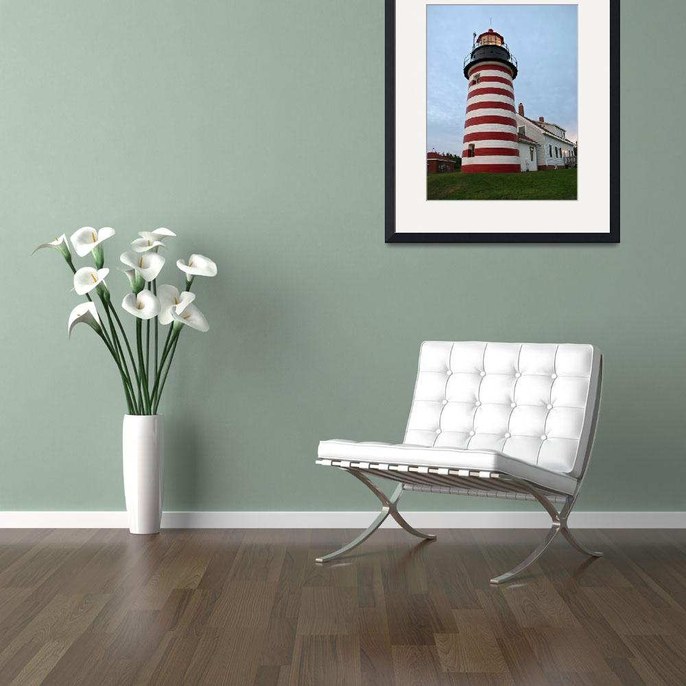 """""""West Quoddy Lighthouse Maine -2&quot  (2008) by shuttershy"""