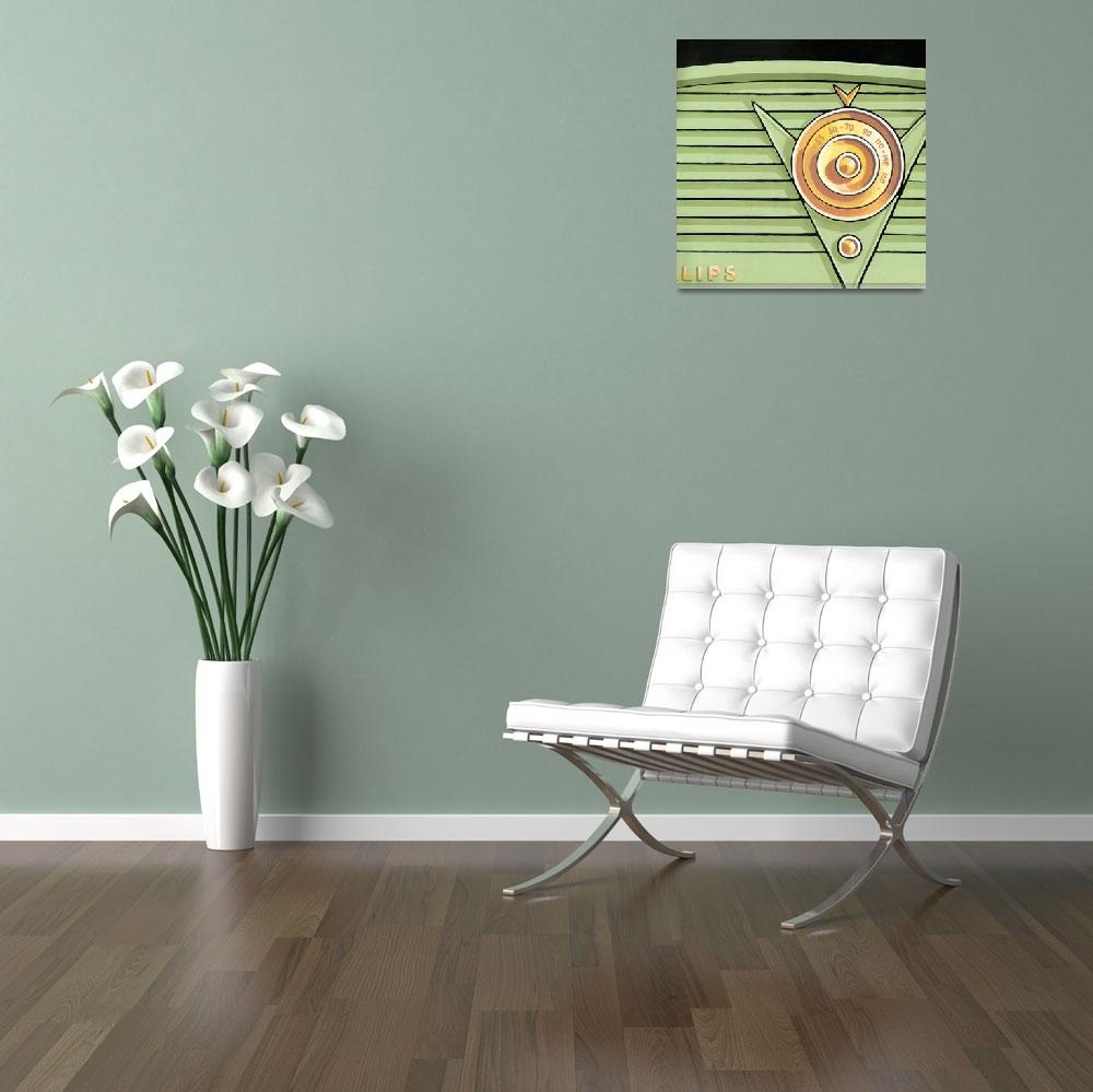 """""""Phillips Radio- green&quot  (2013) by Larry-Thor-Hunter"""