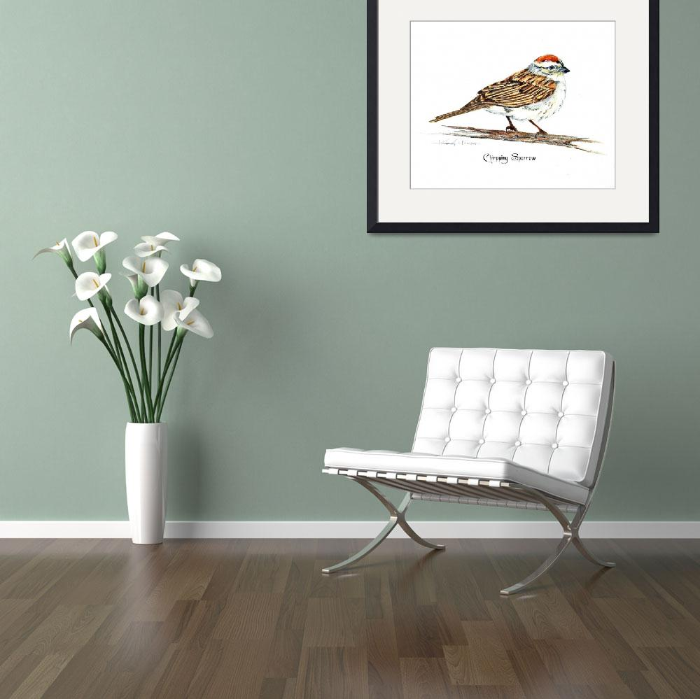 """""""Chipping Sparrow&quot  by kimkloeckerart"""