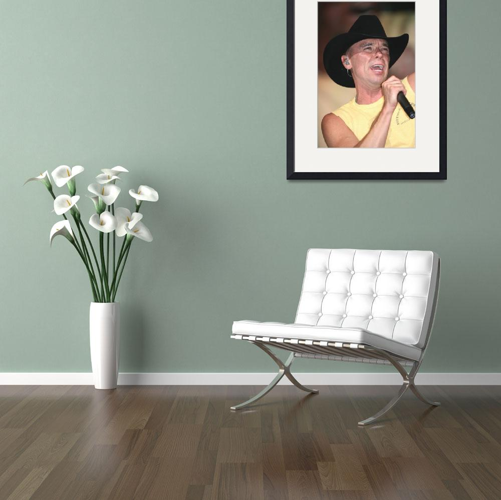 """""""Musician Kenny Chesney&quot  by FrontRowPhotographs"""