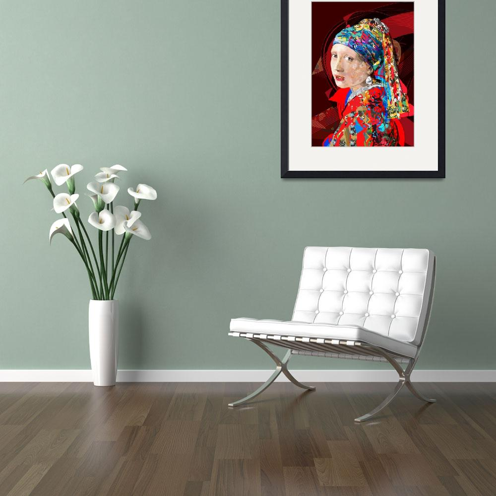 """""""The girl with a pearl earring Five""""  (2011) by tuliofagim"""