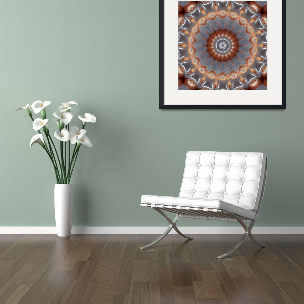"""""""Gray and Brown Industrial Kaleidoscope 5""""  by ChristopherInMexico"""