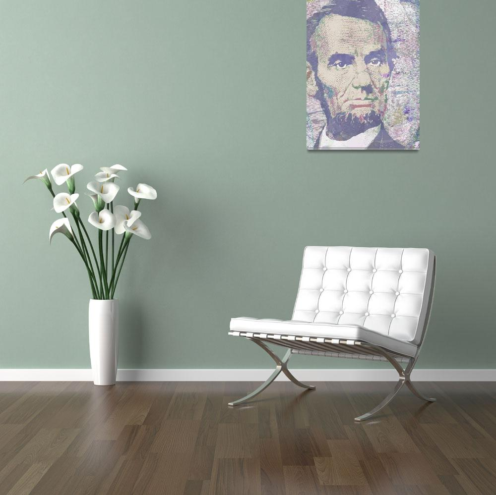 """""""Lincoln Reimagined Vertical&quot  (2014) by RubinoFineArt"""