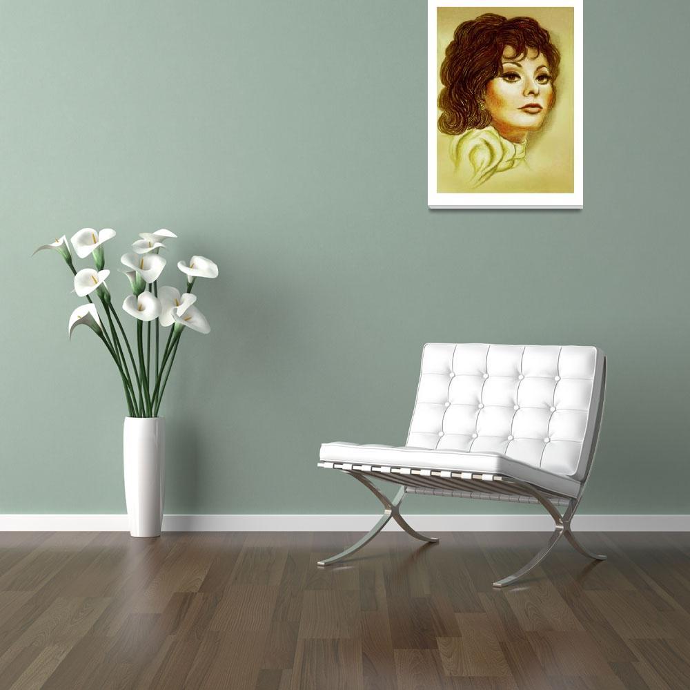 """Sofia Loren&quot  by Ninasart"