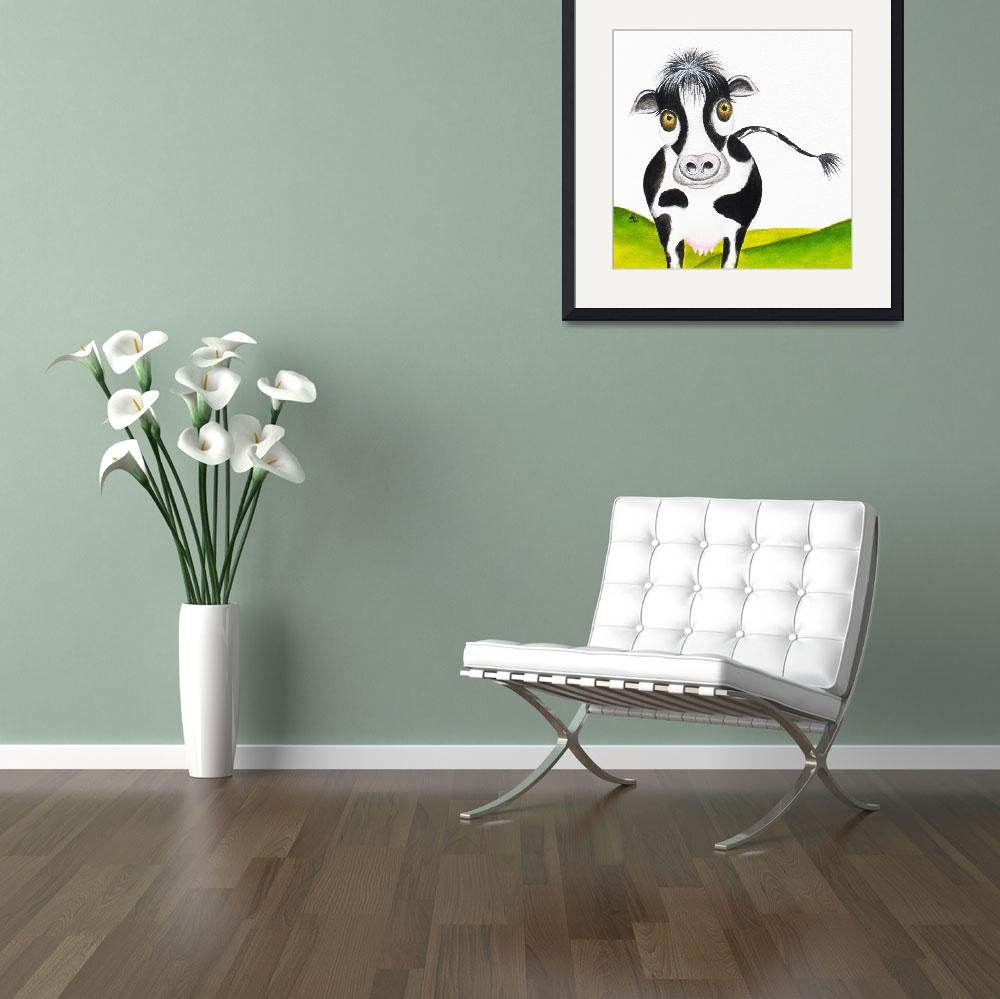 """Whimsical Cow&quot  (2013) by oystudio"