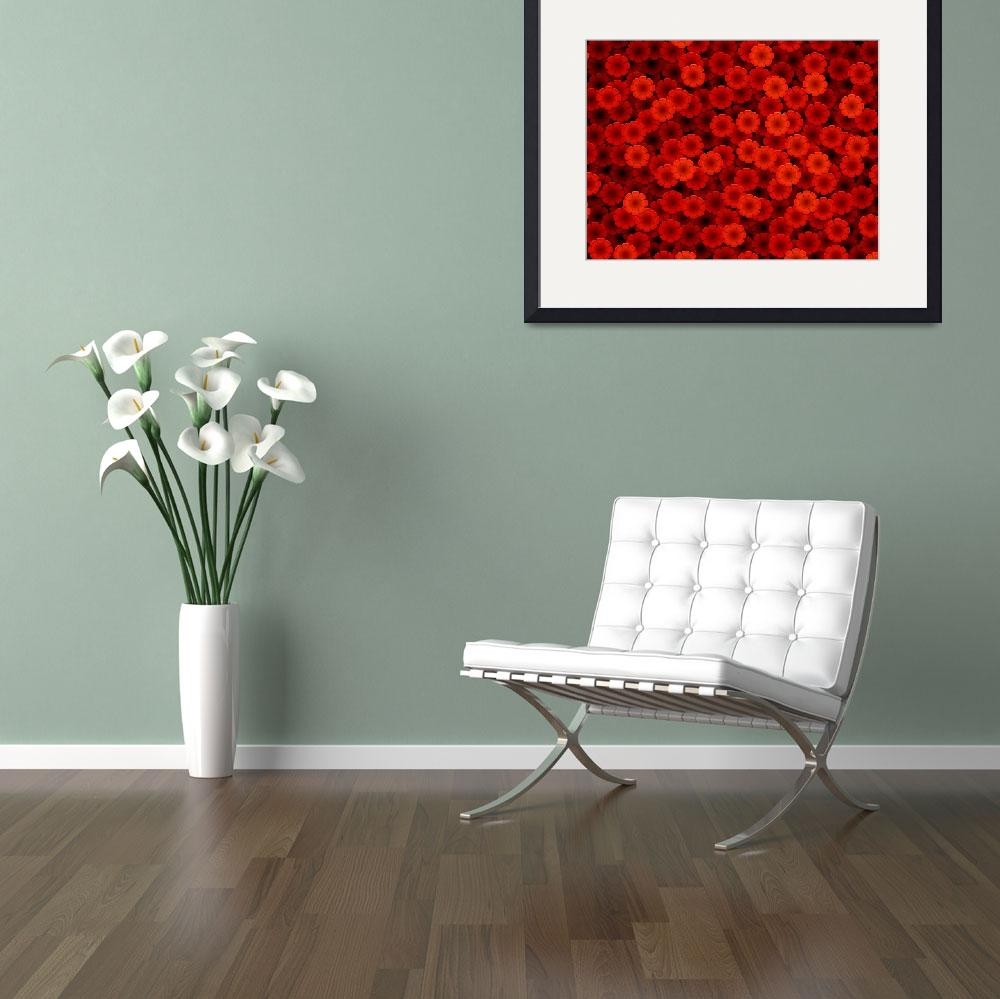 """""""Red flowers&quot  (2005) by darrenwhittingham"""
