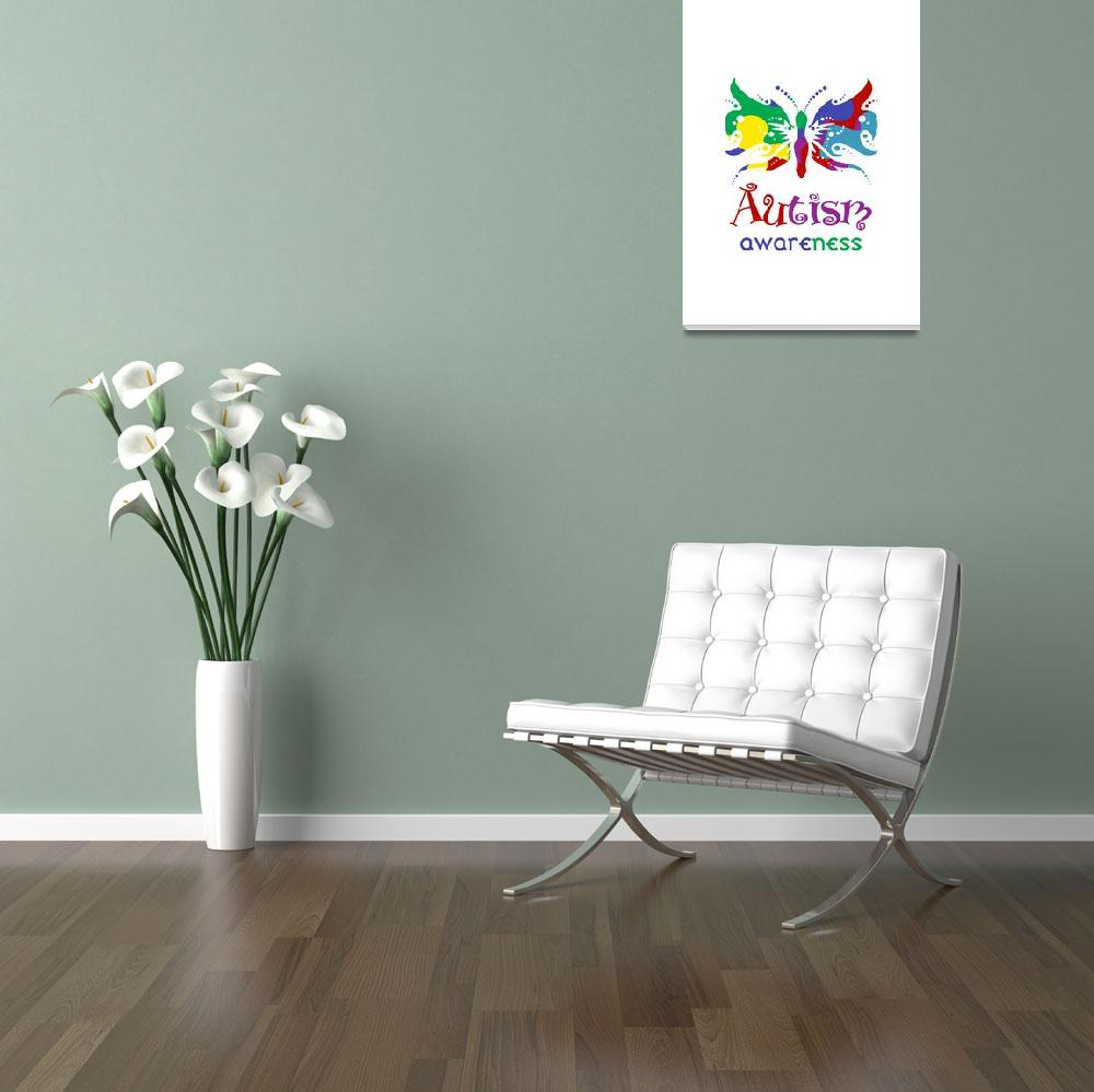 """""""Autism Awareness Butterfly""""  by raineon"""