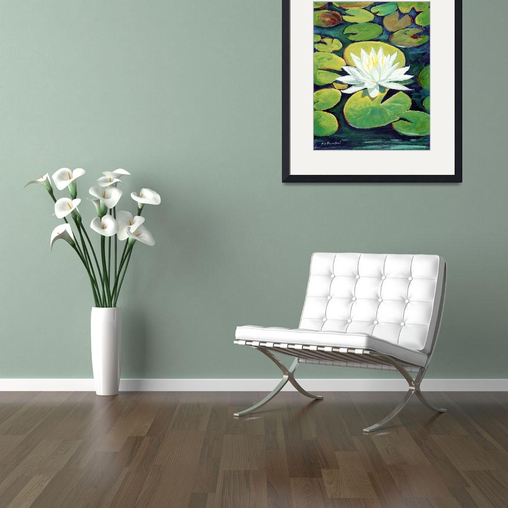 """Water Lily Flower painting by RD  Riccoboni™&quot  (2009) by RDRiccoboni"