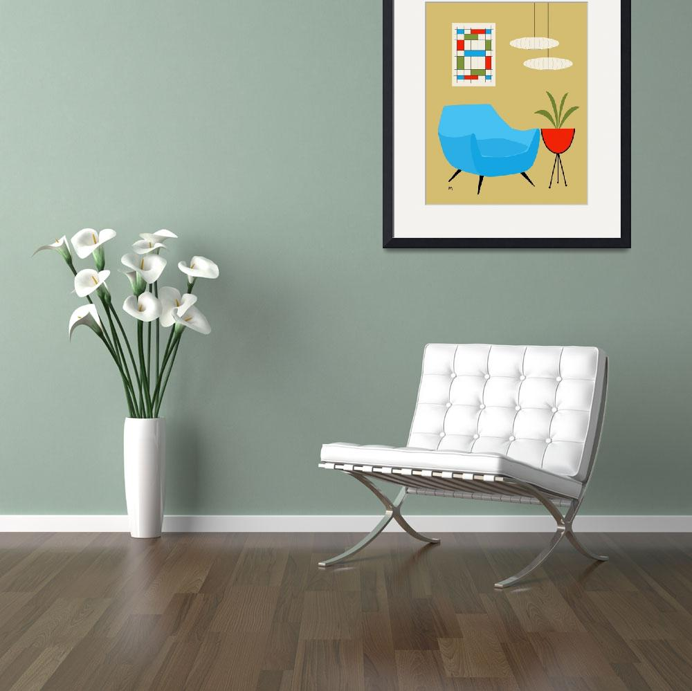 """""""Mini Abstract Turquoise Chair No Cat&quot  by DMibus"""
