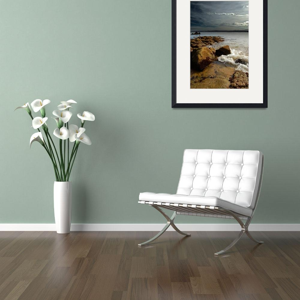"""""""watching over - ocean seascape&quot  (2006) by miir"""