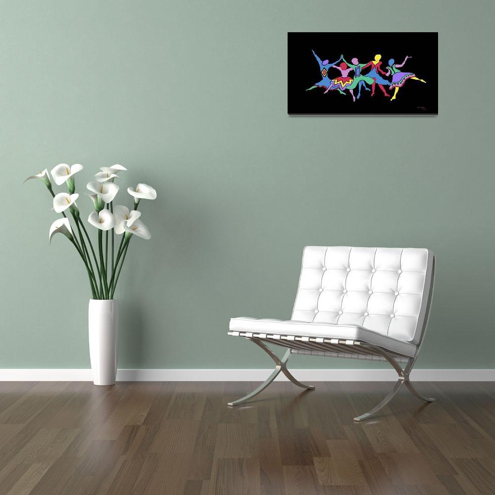 """LINE DANCERS""  (2001) by karencolors"