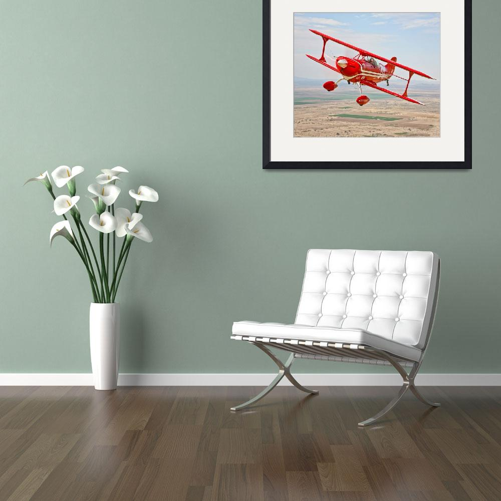 """""""A Pitts Special S-2A aerobatic biplane in flight n""""  by stocktrekimages"""