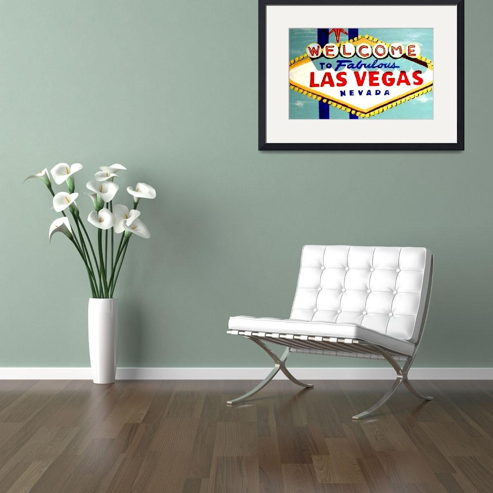 """WORLD FAMOUS HAND PAINTED LAS VEGAS SIGN DAYTIME&quot  (2007) by teofaith"