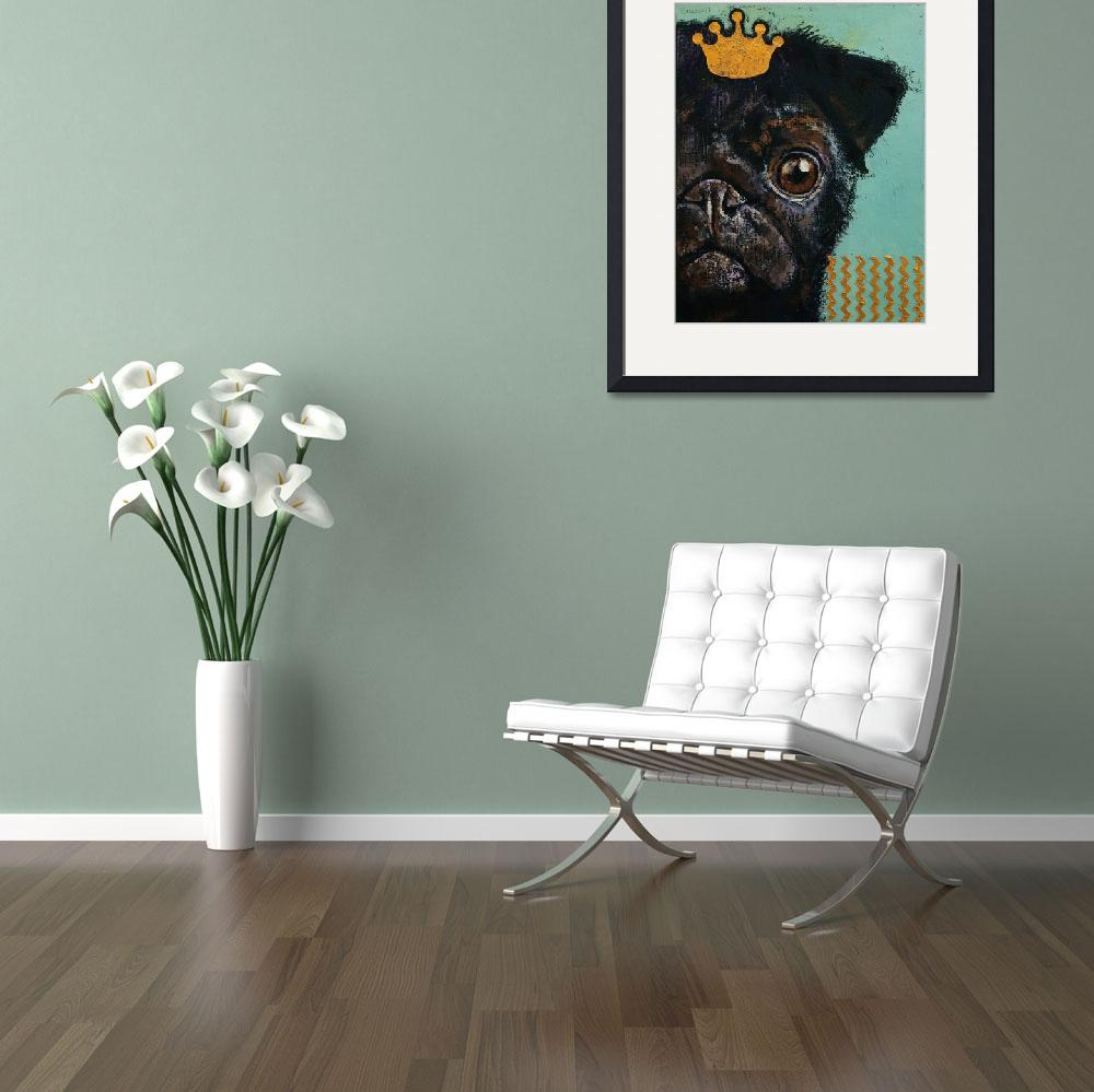"""""""King Pug&quot  by creese"""