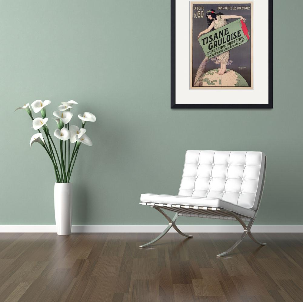 """""""Poster advertising Tisane Gauloise, printed by Cha&quot  by fineartmasters"""