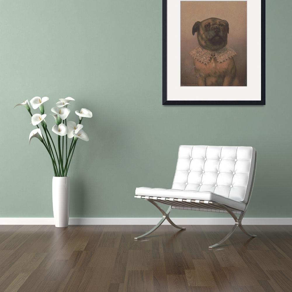 """""""Vintage Sophisticated Dog Illustration (1878)&quot  by Alleycatshirts"""