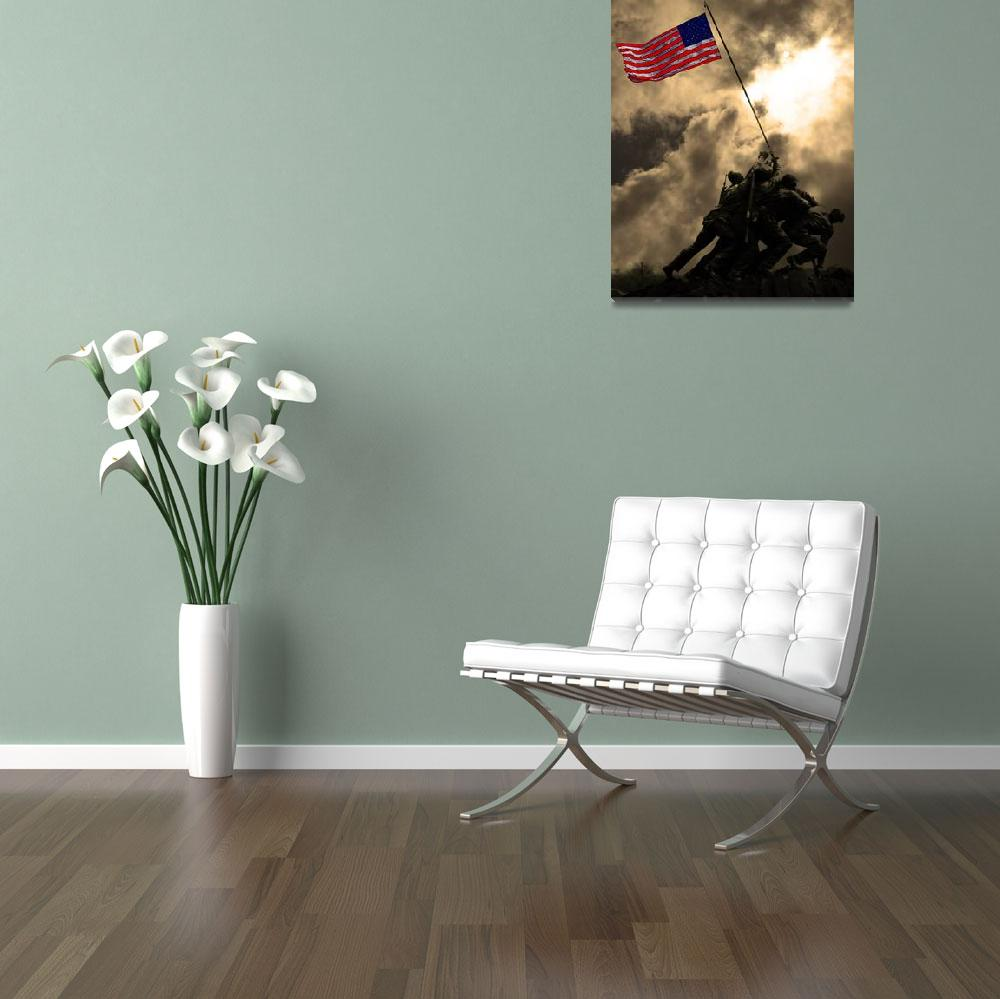 """Raising The Flag at Iwo Jima 20130211""  by wingsdomain"