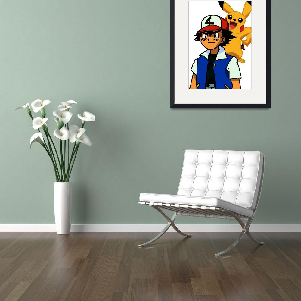 """""""Ash & Pikachu&quot  (2012) by RyanH1984"""