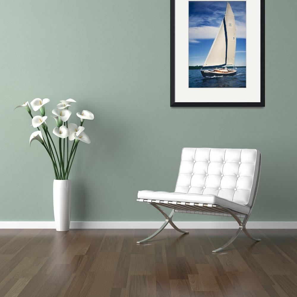 """""""Sailboat_27w_40t&quot  (2015) by Morganhowarth"""