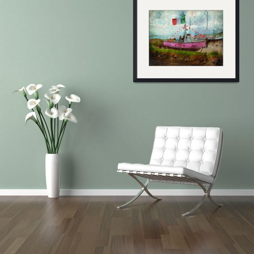 """""""Pink Irish Boat&quot  by artbyclaire"""